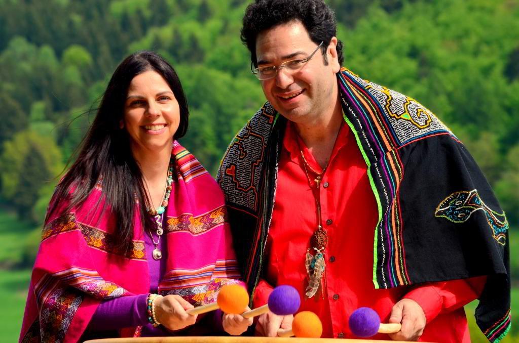 Pacha-Mama Trommel Carmen und Gerardo Laempe